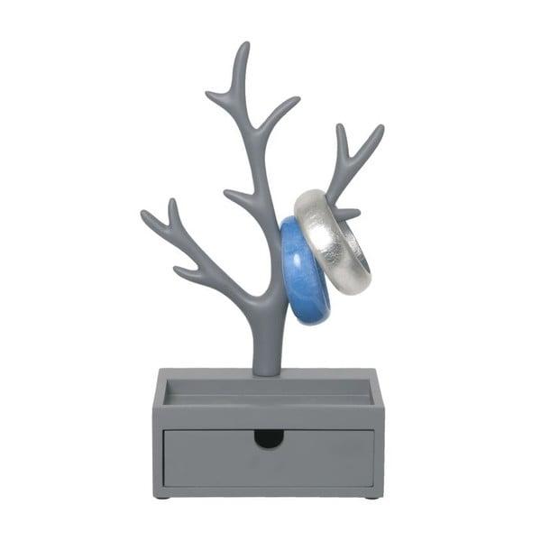 Stoján na šperky Tree Drawer Grey