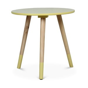Žltý príručný stolík Opjet Vick