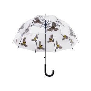 Transparentný dáždnik s potlačou vtáčikov Ego Dekor, ⌀ 80,8 cm