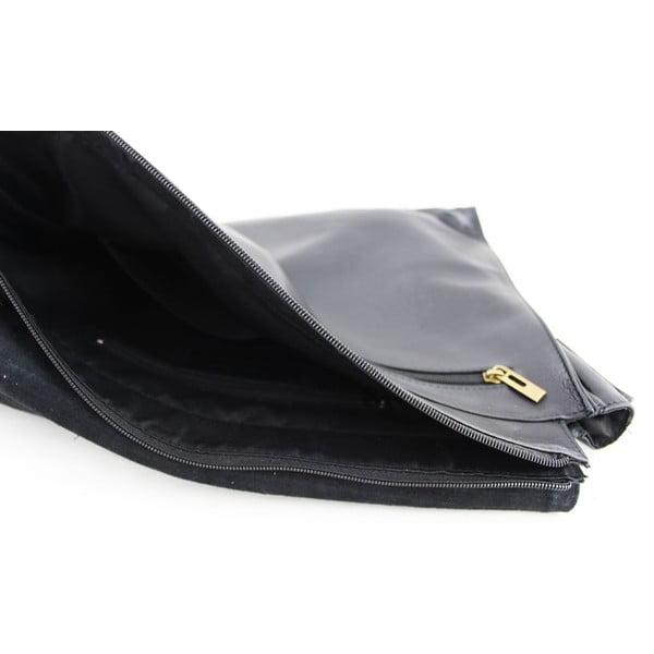 Kožená unisex taška Salesia Nero