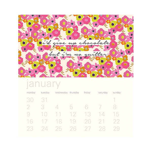 Stolový kalendár Portico Designs Ditsy