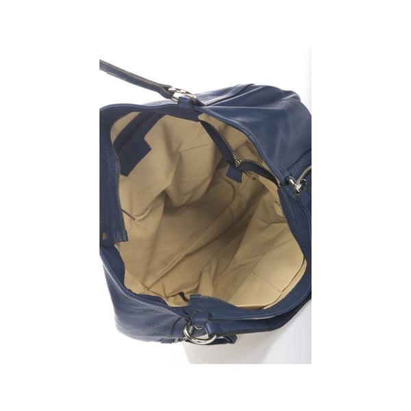 Kožená kabelka Krole Kelly, modrá