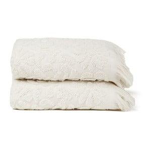 Set 2 uterákov Riad Face Sand, 50x90 cm