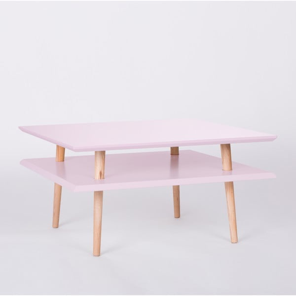 Ružový konferenčný stolík Ragaba Square, 68x68cm