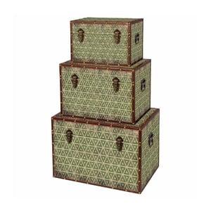 Sada 3 úložných boxov Rajhastan