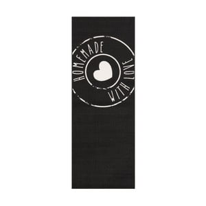 Čierny behúň Zala Living Homemade, 67×180 cm