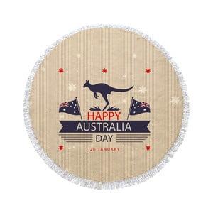 Guľatá plážová osuška Homemania Australia Kangaroo Happy, Ø150cm