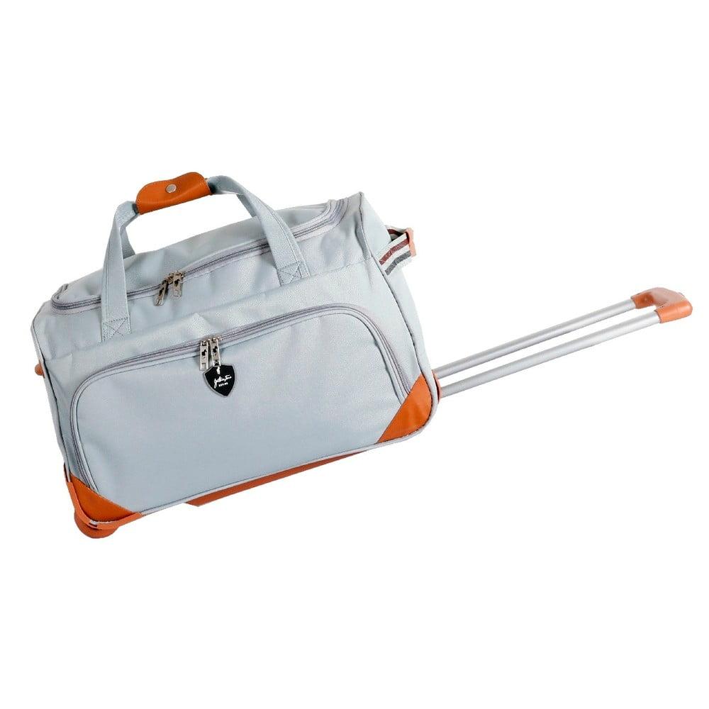 Svetlosivá cestovná taška na kolieskách GENTLEMAN FARMER Sporty, 88 l