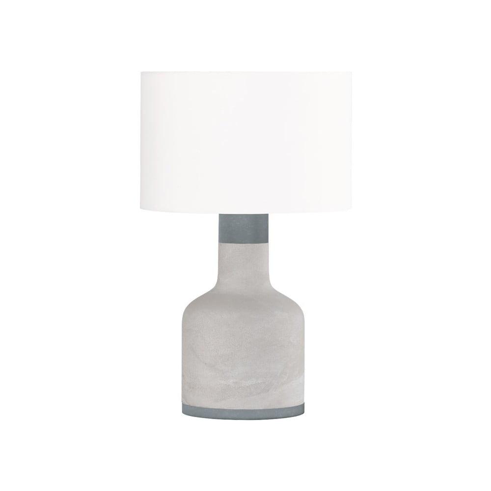 Sivá stolová lampa Trio Rodney, výška 51 cm