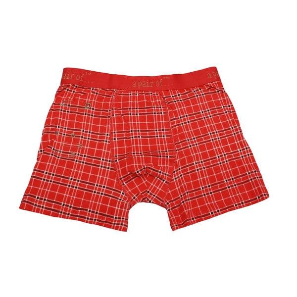 Pánské boxerky Punk Red, veľkosť L
