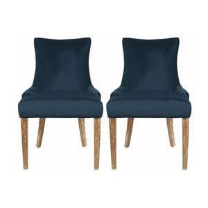 Sada 2 stoličiek Lester Dark Blue