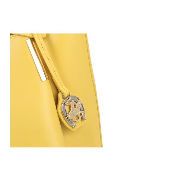 Žltá kabelka z eko kože Beverly Hills Polo Club Frederica