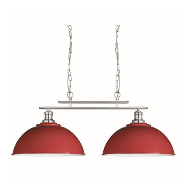 Stropné svetlo Duo Silver/Red
