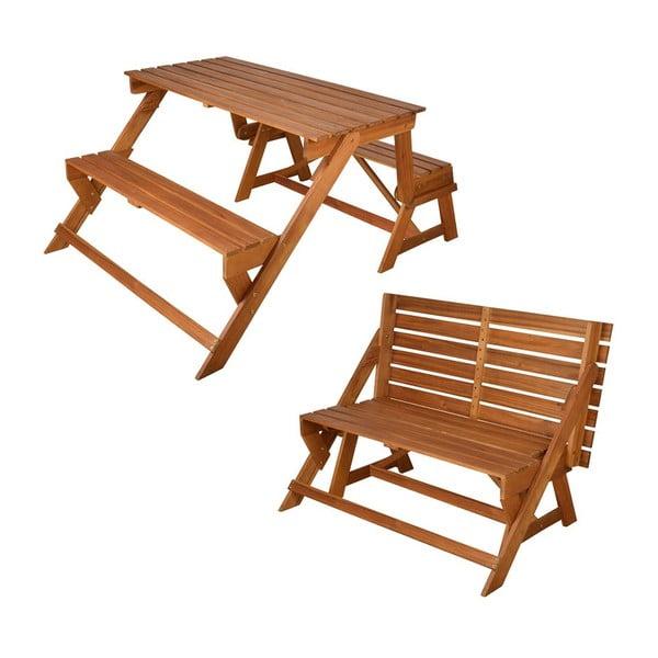 Skladací piknikový stôl s lavicami Chat