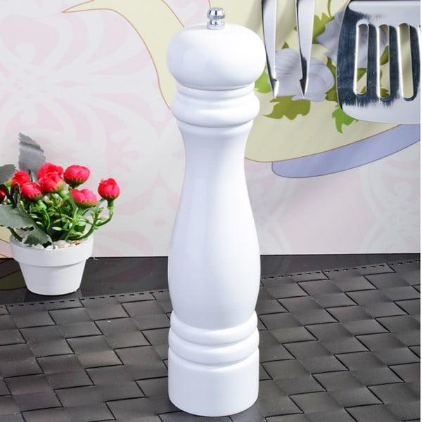 Biely bambusový mlynček na soľ a korenie Luxury