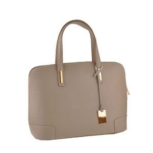 Kožená kabelka Rena, sivá