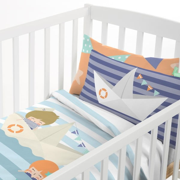 Detské obliečky z čistej bavlny Happynois Sailor, 115×145 cm
