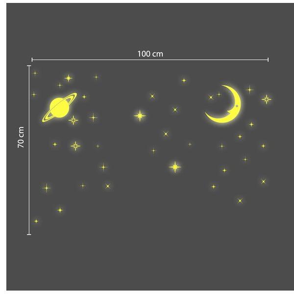 V tme svietiaca samolepka Walplus Stars and Moons