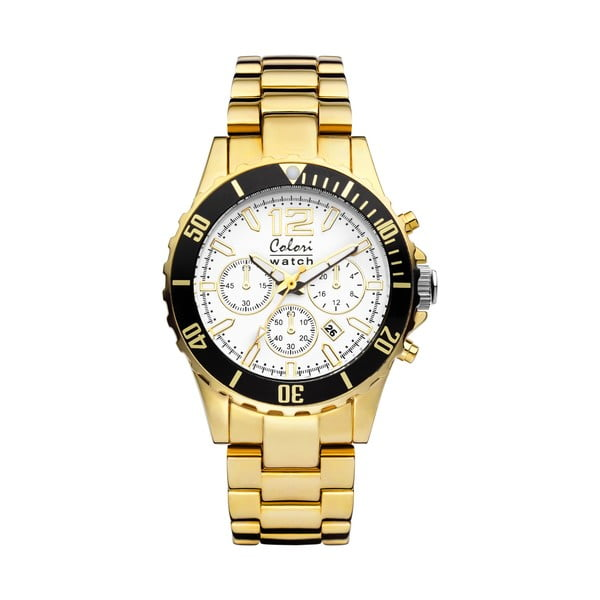 Hodinky Colori 40 Steel Gold Chronolook