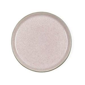Pudrovoružový kameninový dezertný tanier Bitz Mensa, priemer 21 cm