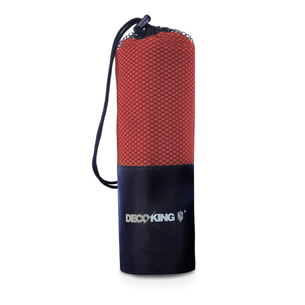 Sada 2 červených rýchloschnúcich uterákov DecoKing EKEA, 30 × 50 cm