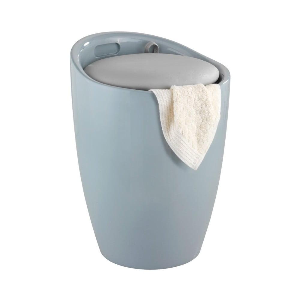 Sivý kôš na prádlo a taburetka v jednom Wenko Candy Look, 20 l
