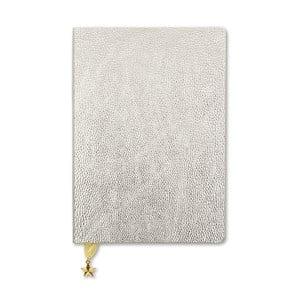 Zápisník v striebornej farbe A5 GO Stationery All That Glitters Metalic