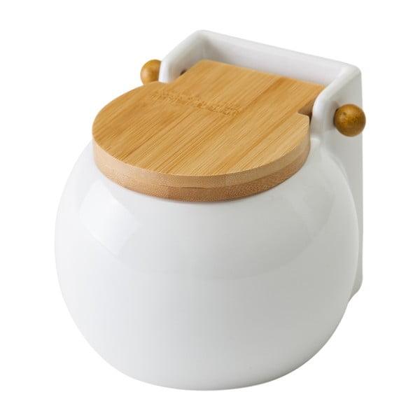 Biela dóza na soľ s vekom Unimasa Ceramic, 700 ml