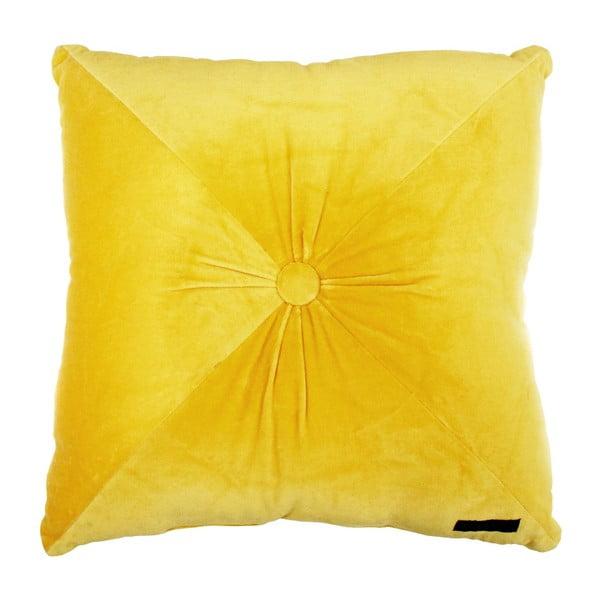 Žltý vankúš Ragged Rose Fiona Velvet