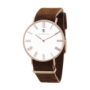 Tmavohnedé pánske hodinky Black Oak Elegant