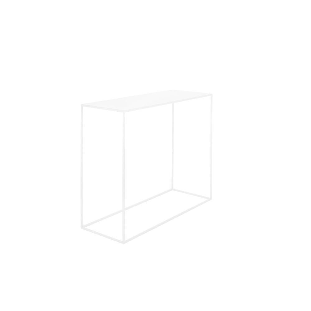 Biely konzolový kovový stôl Custom Form Tensio, 100 x 35 cm