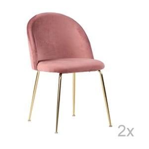 Sada 2 ružových jedálnych stoličiek House Nordic Geneve