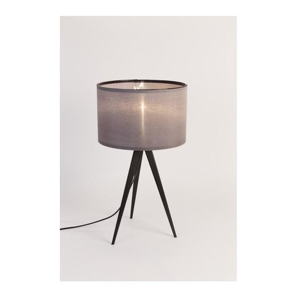 Čierno-sivá stolová lampa Zuiver Tripod