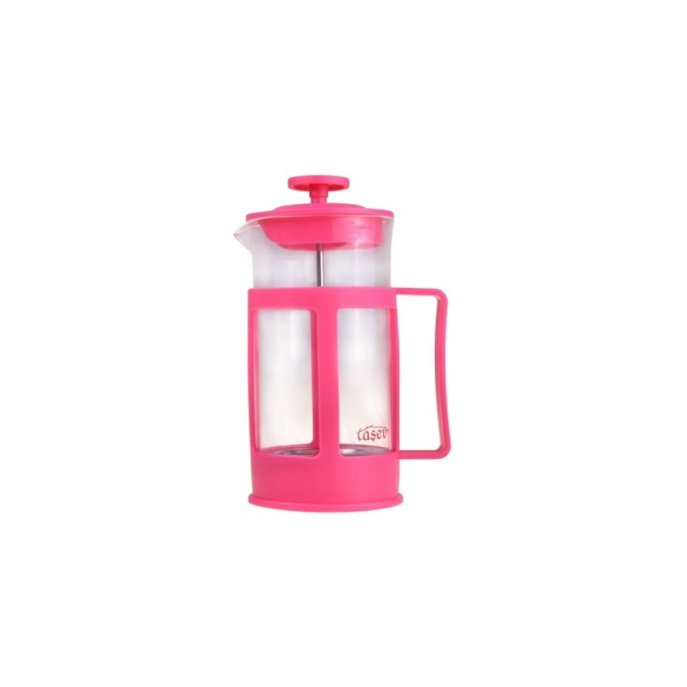 Červený french press na kávu a čaj Bambum Magic, 350 ml