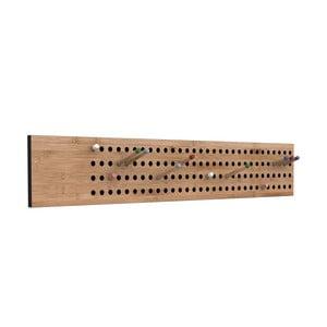 Variabilný vešiak z bambusu Moso We Do Wood Scoreboard, šírka 100 cm