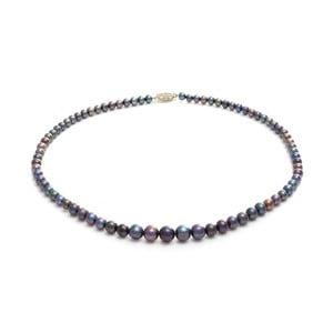 Fialový perlový náhrdelník GemSeller Cara