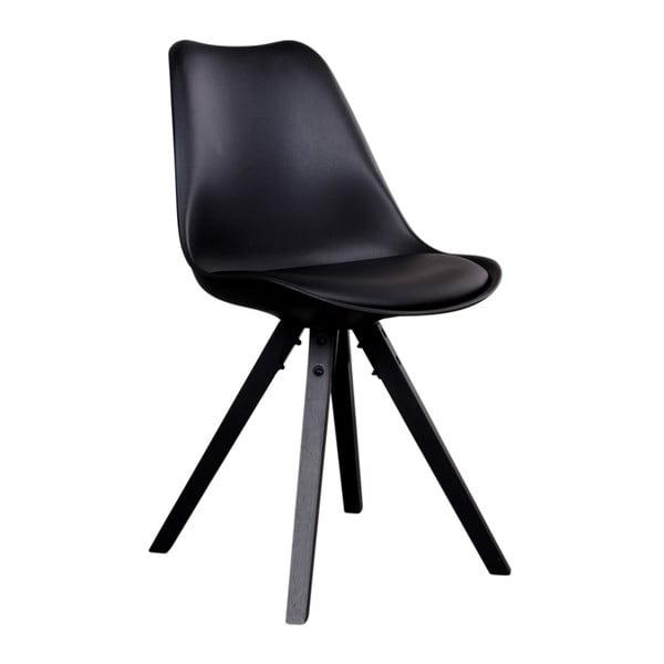 Sada 2 čiernych stoličiek s čiernymi nohami House Nordic Bergen