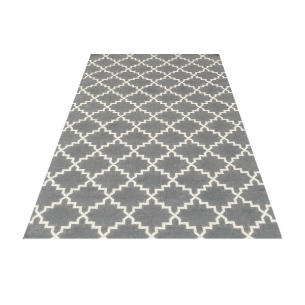 Vlnený koberec Eugenie Grey, 180x120 cm