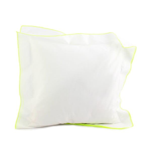 Obliečka na vankúš Basic Fluor yellow, 40 x 40 cm