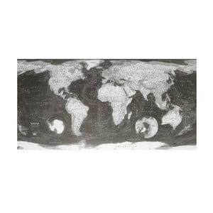 Mapa sveta v priehľadnom puzdre The Future Mapping Company Monochrome World Map, 130×72cm