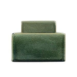 Zelená kameninová dóza HF Living, výška 12,5 cm