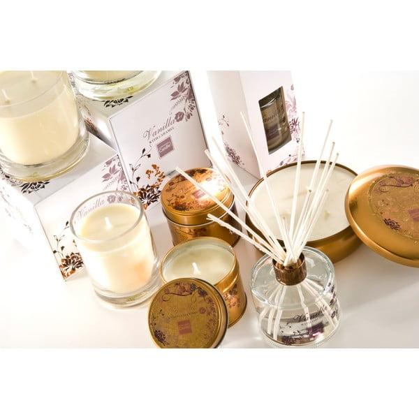 Aroma sviečka v plechovke  Vanilla with Caramel, doba horenia 32 hodín