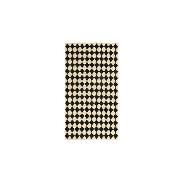 Vlnený koberec Oslo no.3, 140x200 cm, čierny