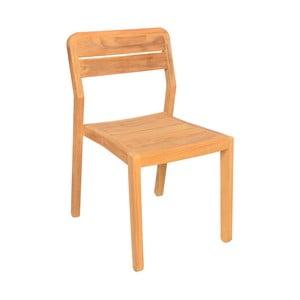 Sada 2 záhradných stoličiek z teakového dreva Ezeis Navy
