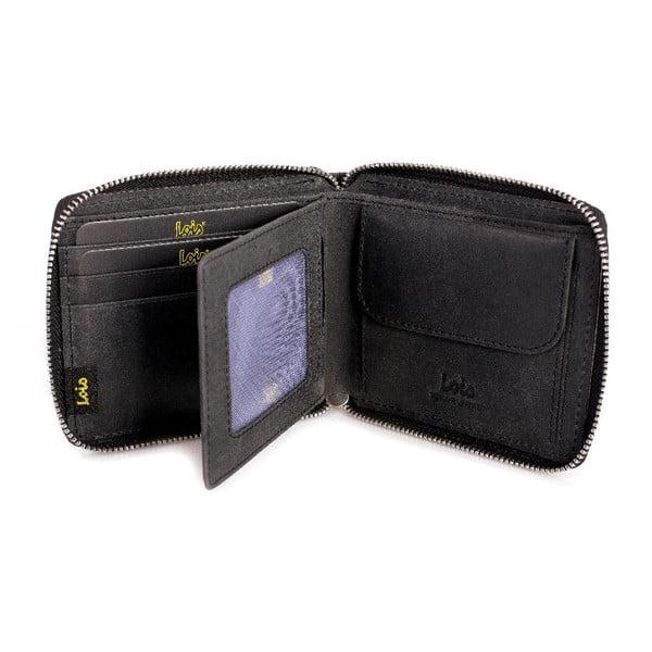 Pánska kožená peňaženka LOIS no. 709, čierna