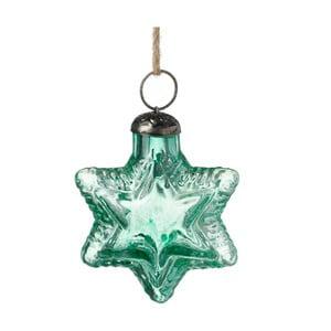 Zelená vianočná ozdoba Parlane Star