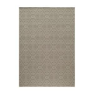 Sivo-béžový koberec Nourison Baja Apuri, 290×201cm