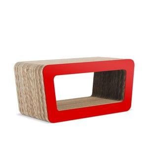 Kartonóvý televízny stolík Cinema Red
