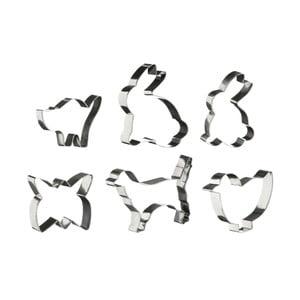 Sada 6 formičiek Premier Housewares Animal