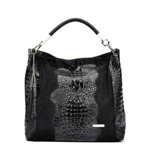Čierna kožená kabelka Sofia Cardoni Manu